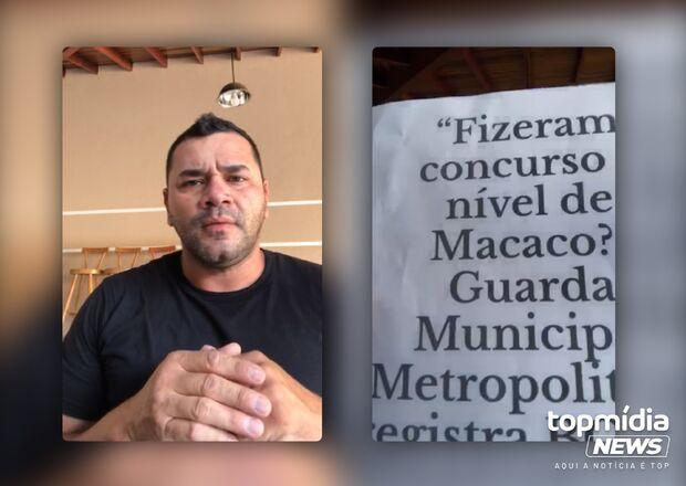 Vídeo: sindicato de GCMs cobra R$ 50 mil de internauta que falou 'concurso nível de macaco'