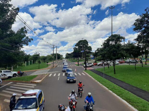 Após negociação com a GCM, carreata contra Bolsonaro segue com trajeto reduzido