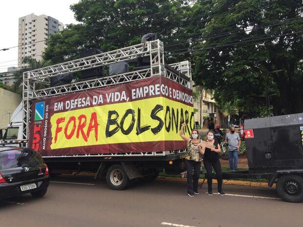 Segunda carreata 'Fora Bolsonaro' acontece neste sábado em Campo Grande