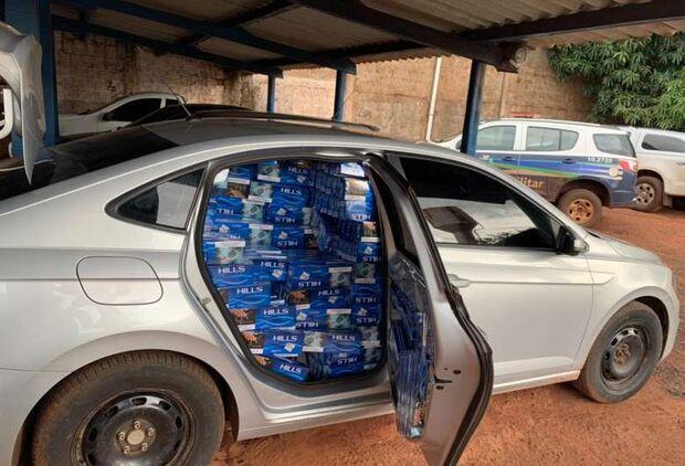 Casal se dá mal e é preso com contrabando do Paraguai em MS
