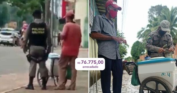 Vaquinha arrecada R$ 76 mil para vendedor de picolé que chorou por não vender nada