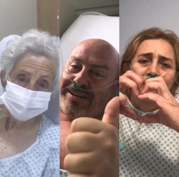Enfermeira grava vídeo para família com covid-19 se comunicar dentro de hospital