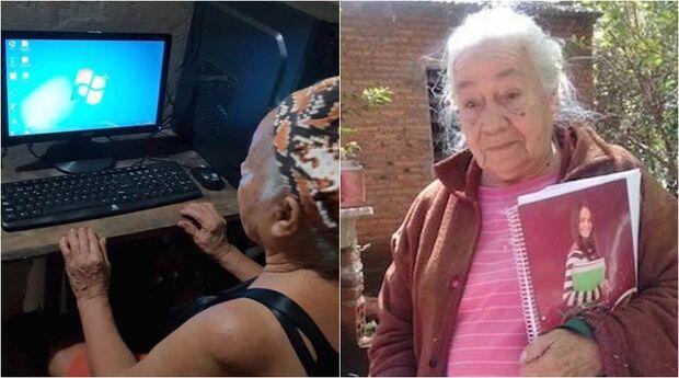 Idosa de 81 anos ganha computador para terminar faculdade de engenharia ambiental