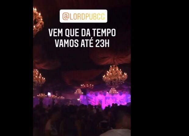 Vídeo mostra aglomeração e zero máscara no Lord Pub