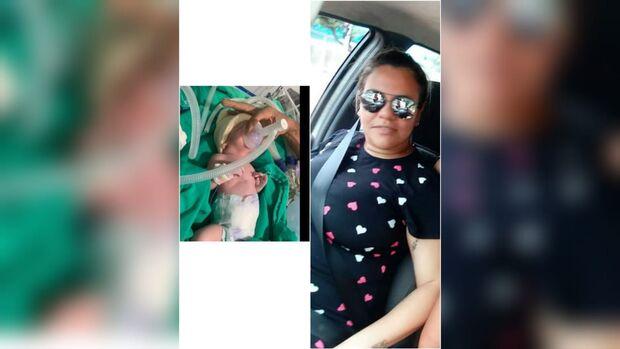 Lilian segue intubada após parto de emergência por covid e família faz campanha por fraldas