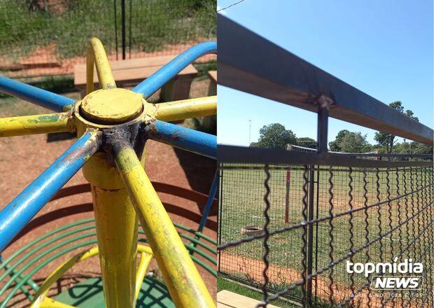 Anjo sem asas: serralheiro arruma parque destruído por vândalos na Vila Fernanda