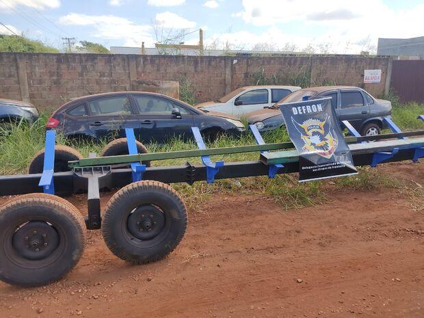 Máquina agrícola avaliada em R$ 25 mil é recuperada pela polícia