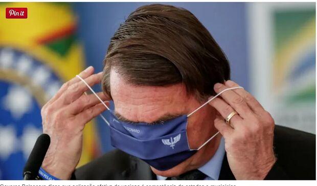Bolsonaro diz que não pode ser responsabilizado por atraso de vacinas