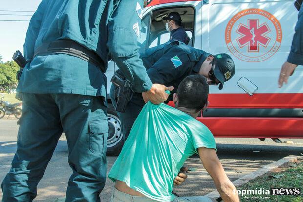 Homem é preso por desfigurar rosto de mulher no soco em Campo Grande