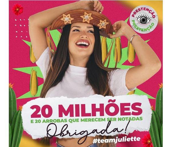 Perfil Juliette do BBB seleciona ONG de Campo Grande para ajudar com divulgação