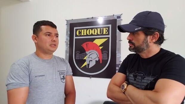 Vídeo: morto por covid, sargento do Choque enfrentou câncer de cabeça erguida