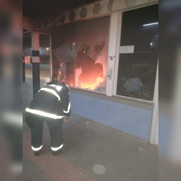 Vídeo mostra destruição na cabine do Terminal Guaicurus
