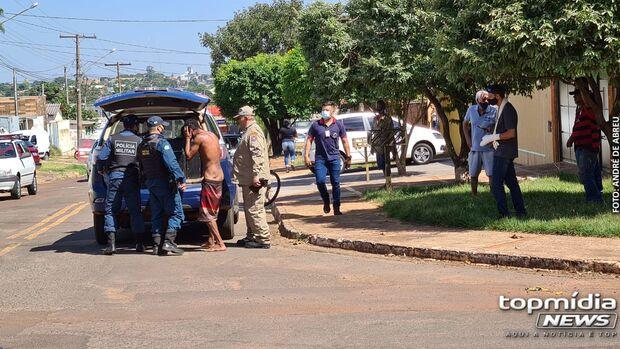 Moradores capturam ladrão e entregam para a PM em Campo Grande