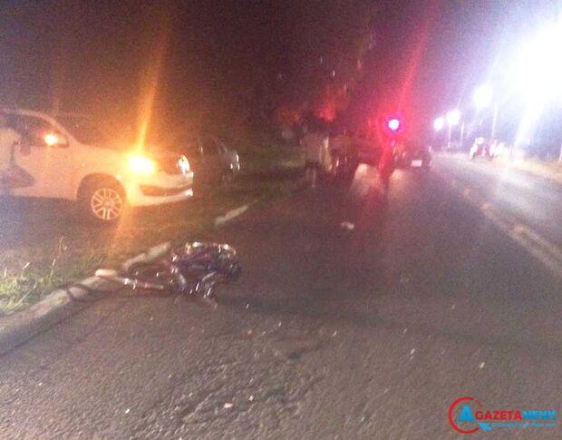 Ciclista morre atropelado por caminhão em Amambai