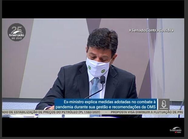 Mandetta começa depoimento contando sobre início da pandemia no Brasil