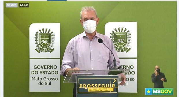 Geraldo Resende diz que 7 mil doses da Pfizer chegam hoje em Campo Grande