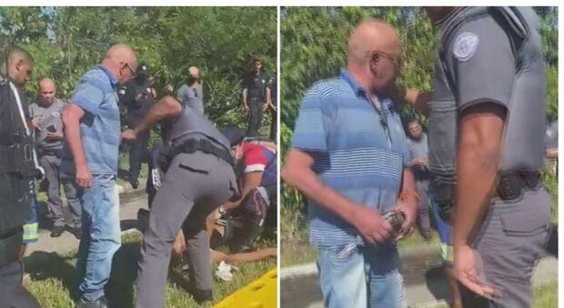 Vídeo: pai mete bronca no filho bandido baleado pela PM