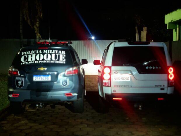 Land Rover é recuperada pelo Choque após ser roubada na Vila Carlota