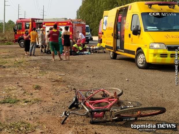 Ciclista morre após ser atropelado no Chácara das Mansões