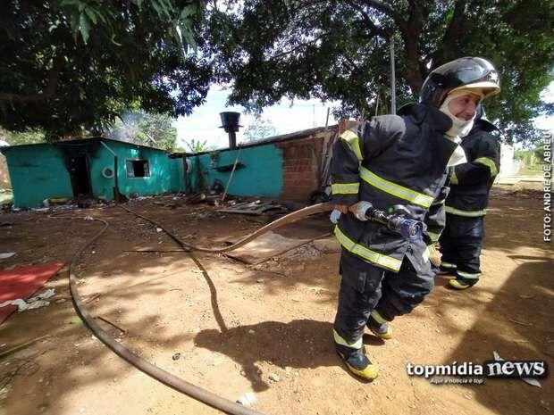 Idoso resgatado de casa em chamas morre em Campo Grande