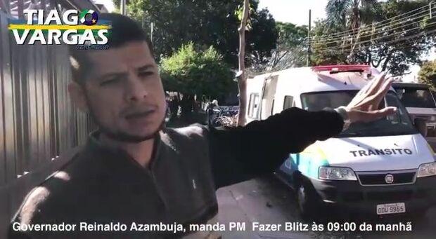 NA LATA: vereador expulso ataca blitz que pega bandido