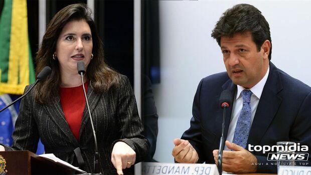 Presidenciáveis em MS: Mandetta abre canal para ouvir demandas e Simone aguarda decisão do MDB