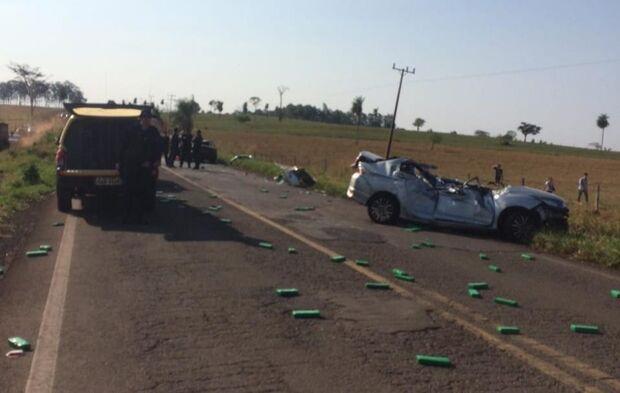 Dois morrem em acidente causado por fuga de traficante em Tacuru