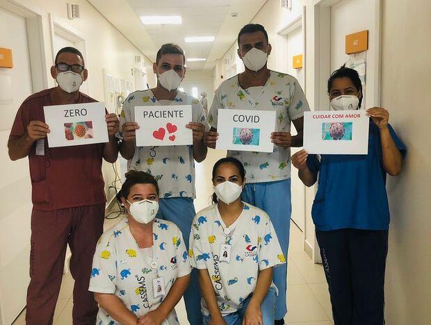 Graças a Deus: Cassems celebra dia sem pacientes de covid em Campo Grande