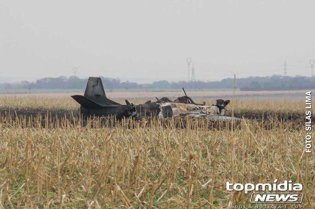 Avião fazia treinamento e apresentou falha técnica em queda em Campo Grande