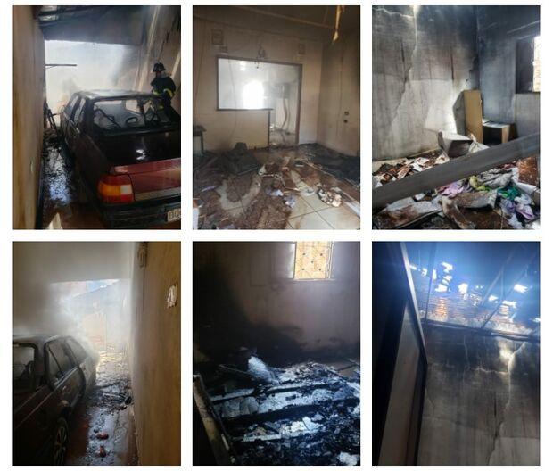 Filha perde o pai e incendeia própria casa em Três Lagoas