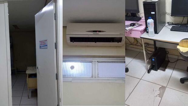 CEM funciona com máquinas quebradas, sem ventilação e poucos funcionários