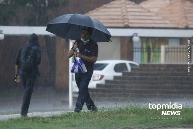 Alerta do Inmet coloca 19 cidades de MS com risco de tempestades