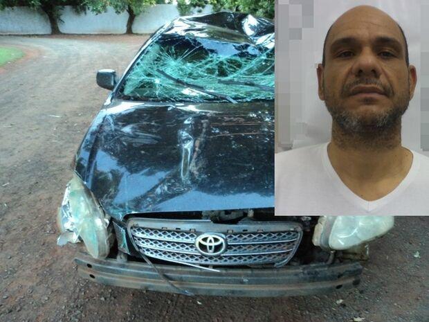 Ex-vereador viciado em crack é preso por roubar carro acidentado