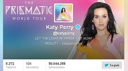 Katy Perry bate recorde no Twitter