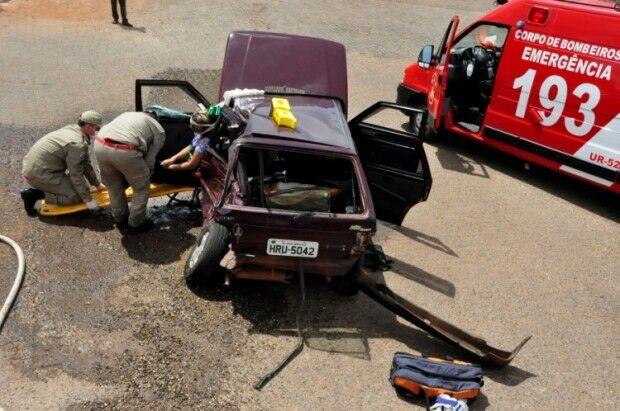 Colisão na MS-276, em Batayporã, deixa uma mulher ferida
