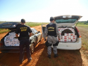 DOF apreende carga de cigarro avaliada em R$ 100 mil