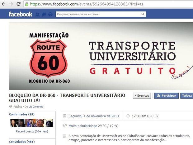 Universitários vão fechar BR-060 em Sidrolândia, por ônibus gratuito