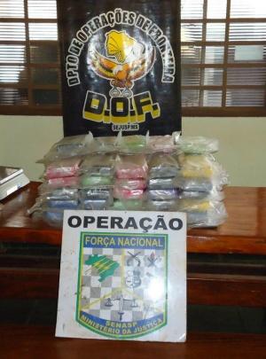 DOF apreende 55 tabletes de cocaína em tanque de combustível de carro