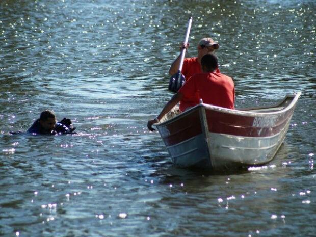 Bombeiros retomam pelo quarto dia busca a homem afogado no rio Verde