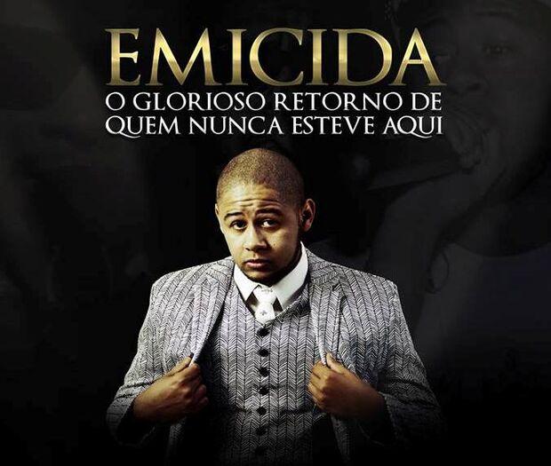 Rapper Emicida fará show em Campo Grande no dia 29