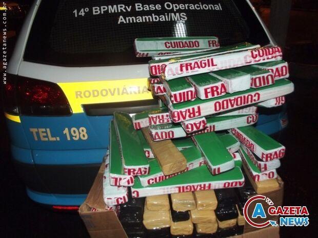 Homem é preso com 78 quilos de maconha em Amambai