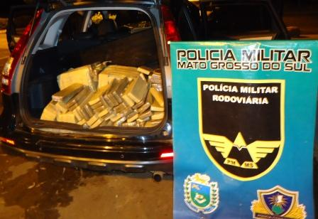Traficante que levaria droga para o Paraná é preso na MS-156