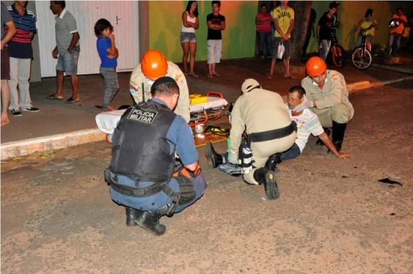 Motociclista se envolve em acidente de trânsito em Nova Andradina