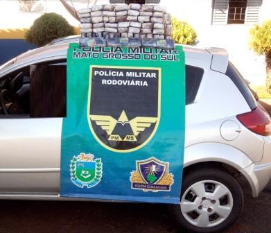 Policiais encontram mais de 40 kg de maconha em veículo na MS-164