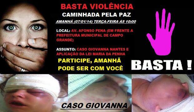 """Familiares e amigos da jovem Giovanna promovem """"Caminhada pela Paz"""""""