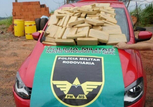 Polícia apreende mais de70 kg de maconha que iriam para São Paulo