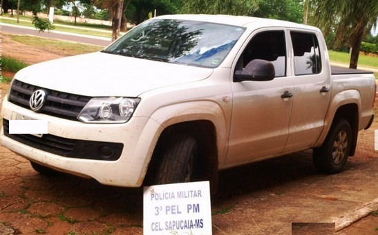 Caminhonete furtada em Goiás é recuperada na rodovia MS 289