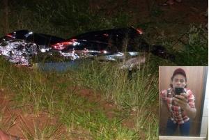 Jovem morre em colisão na MS-141 e motorista foge