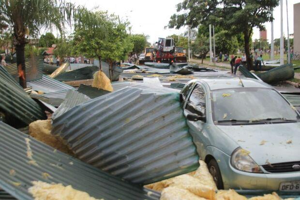 Chuvas causam estragos em Três Lagoas