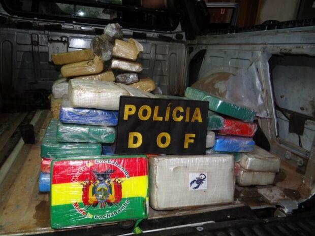 Traficante é preso com mais de R$ 130 mil em drogas na MS-145